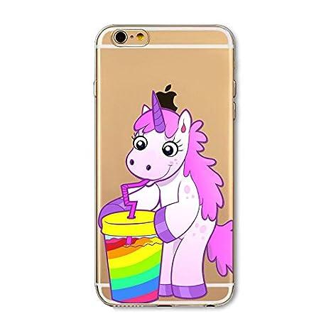 coque iphone 6 licorne arc en ciel