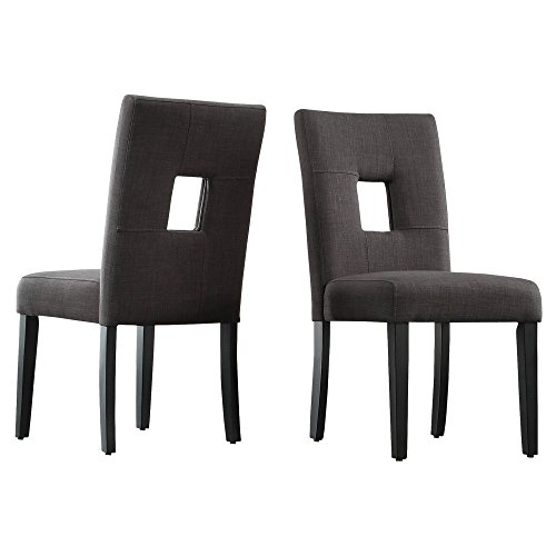 Chelsea Lane Upholstered Keyhole Dining Side Chair - Set of 2 - Side Chair Keyhole