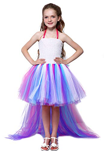 Unicorn Costumes For Teens (Tutu Dreams Unicorn Party Dress Girls Size 12-14 Plus Size Teen Girls Pony Dress Up Prom Dance)