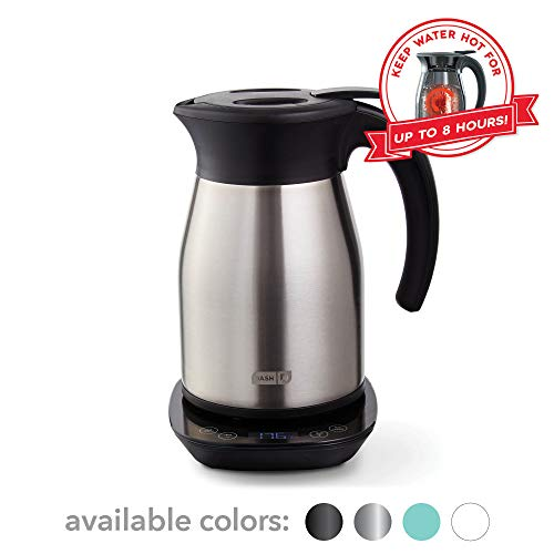 Dash Insulated Electric Kettle, Cordless 1.7L Easy Boil Hot Water Kettle - Stainless Steel