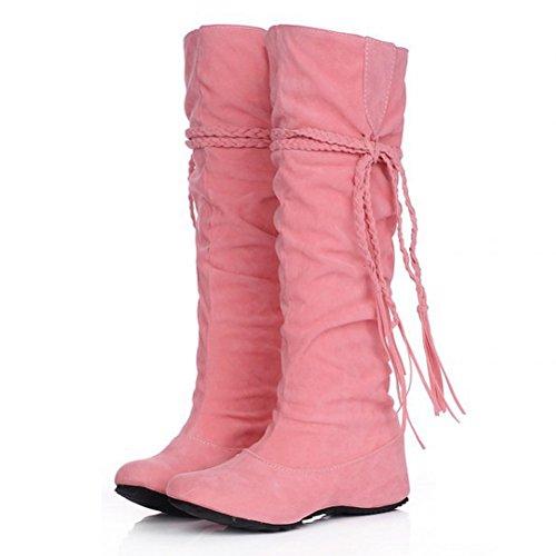 Donna Frange Rosa Stivali Pink HiTime 35 con EU Le Xpwt1xxInq