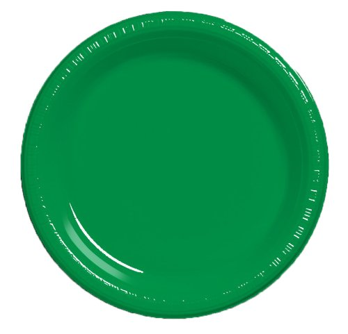 Creative Converting Plastic Dinner Emerald