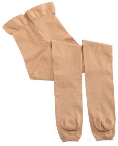 Capezio Big Girls' Microfiber Knit Transition Tight,Caramel,One ()