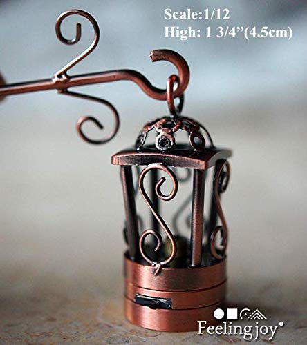 1:12 Scale Dollhouse Accessories Miniatures Carriage Lamp Birdcage Sconce Wall Lamp LED Light; H4.5CM