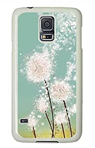 Dandelion PC White Hard Case Cover Skin For Samsung Galaxy S5 I9600