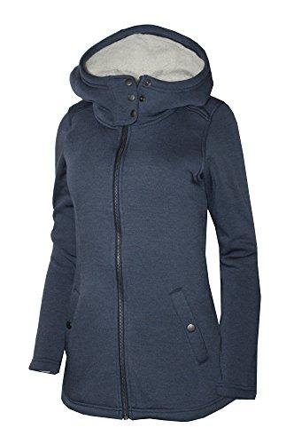 Columbia Women's Harts Peak Full Zip Fleece Lined Hooded Light Insulated Jacket (Navy, S)