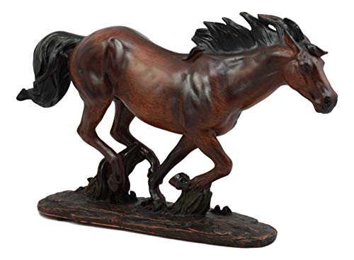 Ebros Large Wild Stallion Running Horse Statue 13.25