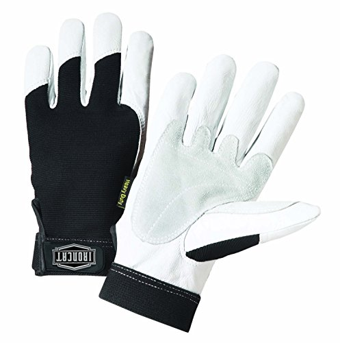 West Chester IRONCAT 86550 Heavy-Duty Goatskin Palm Gloves – [1 Pair] X-Large, Reinforced Palm and Thumb, Spandex Back, Hook and Loop Elastic Wrist