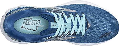 Brooks Women's Adrenaline GTS 19 Blue/Aqua/Ebony 5 B US by Brooks (Image #1)