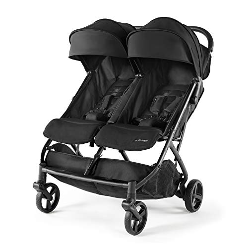 For Sale! Summer 3Dpac CS+ Double Stroller, Lightweight One-Hand Compact Fold, Carseat Compatible, B...