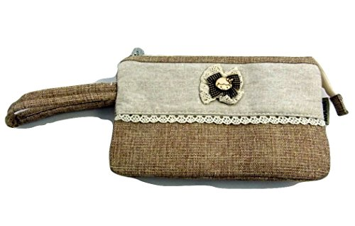 up With Strap Pockets 1 Zakkadesign Pouch 2 Beige Accessories Hand Bag In 3 Make xqvPtwHXP