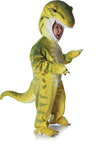 Underwraps Costumes Baby's T-Rex Costume Jumpsuit, Green, Large (2T-4T) (Dinosaurs Costumes)