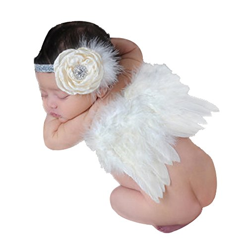 Newborn Baby Photography Props Angel Wings and Hair Band Cute Photo - Angel Wings Prop Newborn Photo