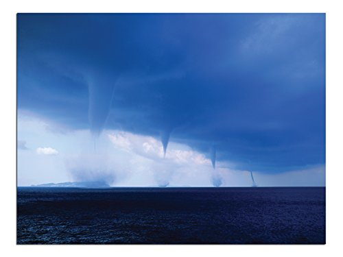 JP London Solvent Free Print PAPXS1X30961 Columns of Ercole Tornado Water Spout Lake Ready to Frame Poster Wall Art 8