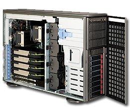 Supermicro 1400 Watt 4U Tower/Rackmount Server Chassis, Dark Gray (CSE-747TQ-R1400B)