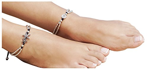 5th Avenue At Christmas - Bellady 2 Pcs Barefoot Sandals Foot Jewelry Starfish Ankle Beachwear,Silver