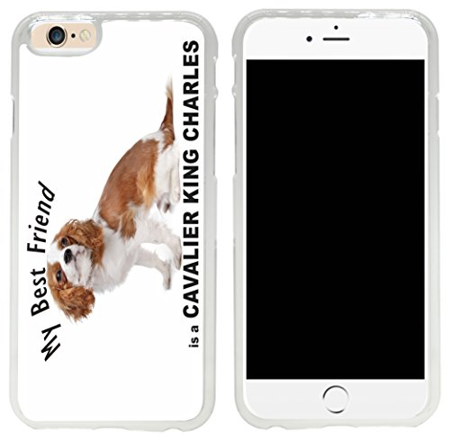 Rikki Knight My Best Friend Brown White Cavalier King Charles Dog Design iPhone 6 Case Cover-Clear