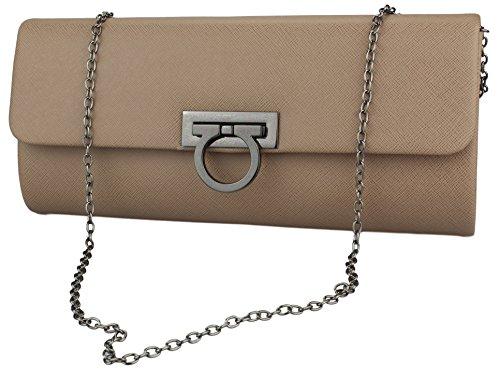 Women's Stylish closure with Evening quality Creme bag Handbag high Bag fnxrAn1