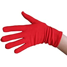 Red Costume Gloves (Wrist Length) ~ Halloween Costume Accessories (STC12078)