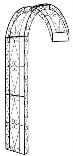 Rosenbogen Halbbogen aus Metall, Rankhilfe Pergola 12160