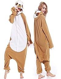 333b4fd2b7 Adult Unisex Sloth Pajamas Cosplay Animal Homewear Sleepwear Jumpsuit  Costume for Women Men