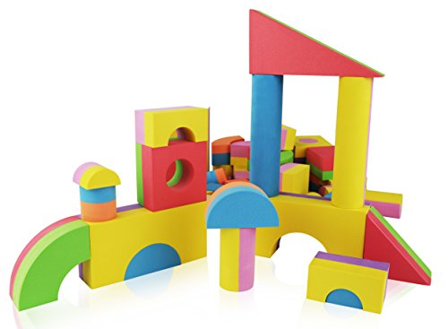 Foam building blocks building toy for girls and boys for Foam blocks building construction