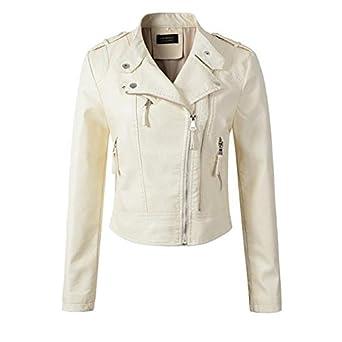 Amazon.com: Costbuys - Chaqueta de piel sintética para moto ...