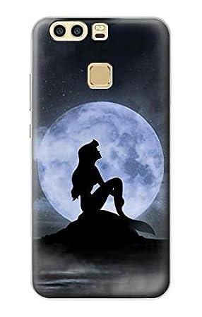Innovedesire Mermaid Silhouette Moon Night Funda Carcasa ...