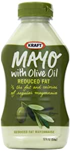 Kraft Mayo with Olive Oil Reduced Fat Mayonnaise, 12-Ounce Squeeze Bottle(Pack of 6)