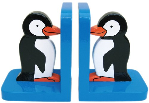 Penguin Wooden Bookends - Hand made in UK In a Roundabout Way 1218