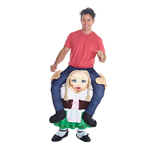 Unisex Piggy Back German Beer Wench Fancy Dress Piggyback Costume - with Stuff Your Own Legs]()