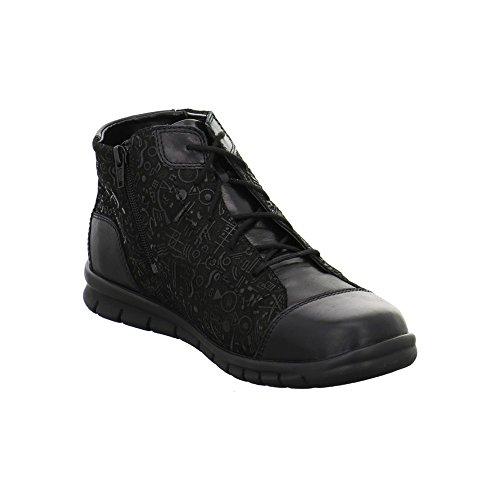 Waldläufer 359801272001 - Botas de Piel para mujer Negro