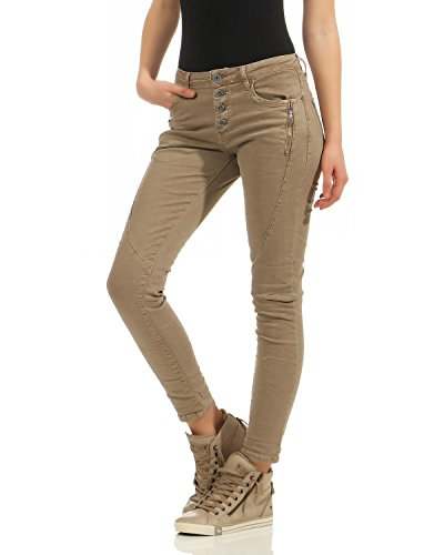 Maigres Zarmexx Baggy Tube 6192 Pantalon xs Hipsters Femmes Bouton Avant Jeans Slimline Avec Xl Denim Chino Dames Beige Stretch yFq8pHFcr