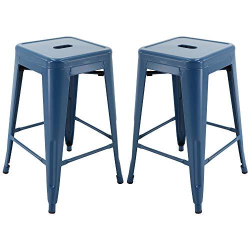 Amazoncom Vogue Furniture Direct 24 Barstools Backless Metal