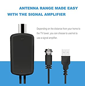 TV Antenna, BESTHING Indoor HDTV Antenna 50 Mile Range with 3ft Amplifier Signal Booster and 13ft Coax Cable Extremely High Reception …