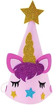 Ruiting Gorro Unicornio,Gorro de Fiesta Sombrero de Fiesta del Unicornio de Cabeza Brillante Artículos Decoración de Fiestas Baby Shower Bautismo ...