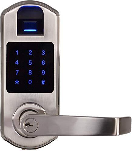 SCYAN X9 Fingerprint Touchscreen Door Lock, Non-Handed, Satin Nickel
