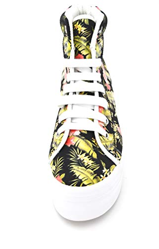 Black Casual Art Floreale Jeffrey Tempo Con Homg Libero Donna Floral Nero Campbell Zeppa Scarpa Sneaker rOY07