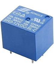 SRD-12VDC-SL-C DC 12V Voltaje de la bobina 5 pines de alimentación Azul Relay