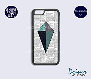 iPhone 6 Case - 4.7 inch model - Newspaper Geometric iPhone Cover