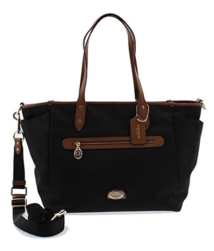 Coach Sawyer Canvas Multifunction Baby Diaper Bag F37758 (Black )