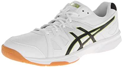 ASICS Men's Gel Upcourt Volley Ball Shoe,White/Black/Silver,13 M US