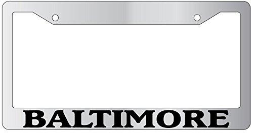 Baltimore High Quality Chrome Plastic License Plate Frame EBSK 1077 -  GSF Designs, C3198