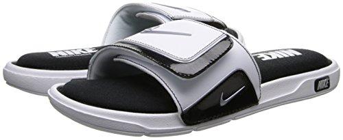 Nike Men's Comfort Slide 2 White/Metallic Silver Black Sanda