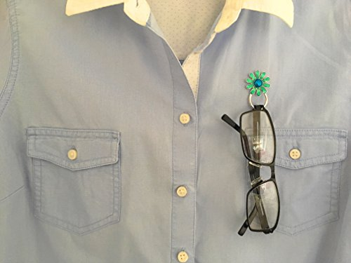 gafas broche clip magnéticas cadena lectura porta gafas cordón gafas sol de magnético Azul Margarita para de gafas Soporte de C4q5W