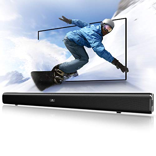 (Sound Bar, Bluetooth Soundbar Audio TV Speaker - Wired and Wireless Connection, 29.5-Inches 2.0 Channel Home Theatre Sound System with 50 Watts Speakers, AUX/Optical/USB/BT Input Modes )