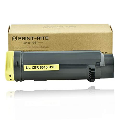 PRINT-RITE 106R03692 XER 6510 Xerox6510 6510N 6515DN Yellow Toner Cartridge 4300 Page Yield 1 Pack Compatible for Xerox Phaser 6510N/6510DN Work Centre 6515N/6515DN Printer