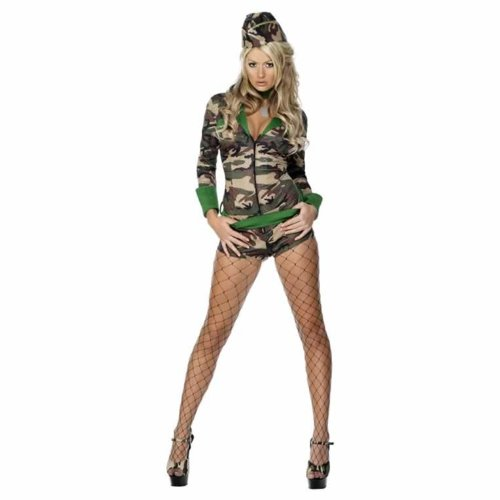 ARMY/COMBAT GIRL LADY FANCY DRESS OUTFIT/COSTUME SIZE UK 16/18