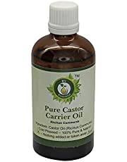 Castor Oil | Ricinus Communis | Cold Pressed Castor Oil | For Hair Growth | For Eyelashes | For Eyebrows | 100% Pure Natural | Cold Pressed | 50ml | 1.69oz By R V Essential
