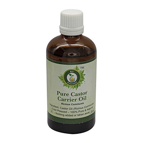 R V Essential Puro de ricino del aceite del portador 30ml (1.01 oz)- Ricinus communis (100% pura y fría natural prensada)...